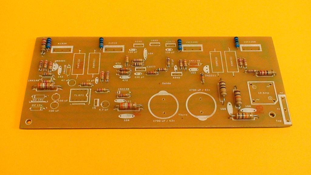 Circuito Impreso De Amplificador De 3000w : Construya su videorockola gt un amplificador