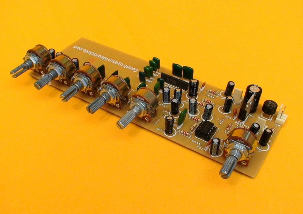 Como hacer un ecualizador stereo de 5 bandas