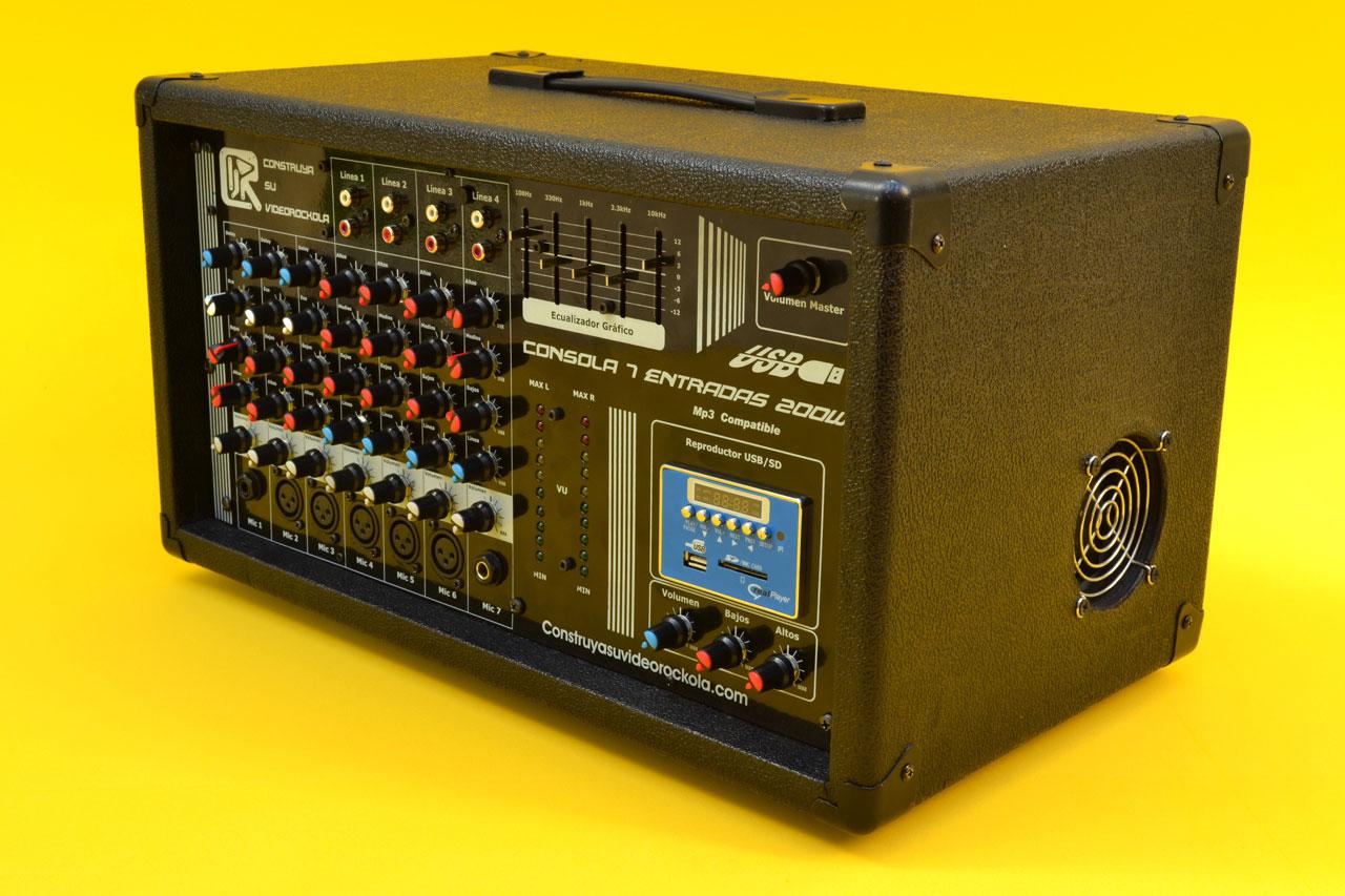 Construya una consola activa o amplificada for Consola de tipo industrial