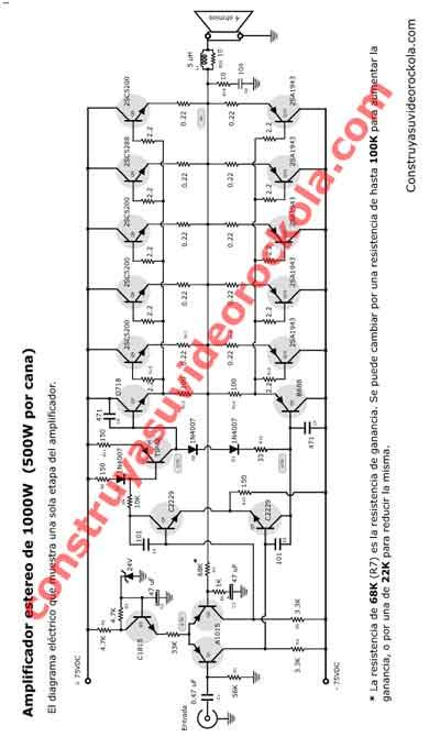 Circuito De Amplificador De Audio De 1000w Pdf : Construya su videorockola gt descargar pdf del