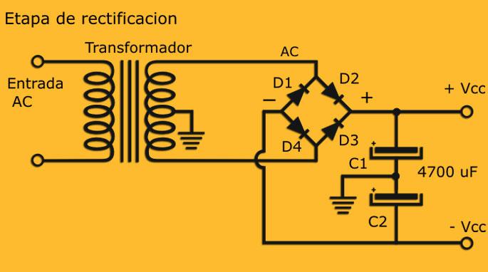 construya fuentes de poder duales o simetricas